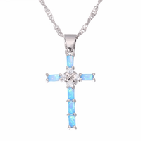 Ladies Cross Pendant Necklace - FashionBazzaar