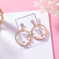 Personality exaggerated big circle earrings