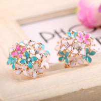 Flower Crystal Stud Earring - FashionBazzaar