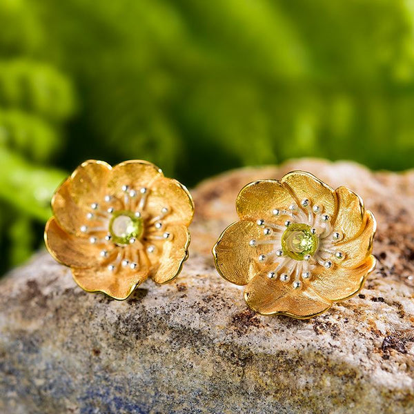Peridot stud earrings - FashionBazzaar