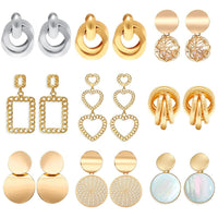 Statement Big Oversize Stud Earrings Set - FashionBazzaar