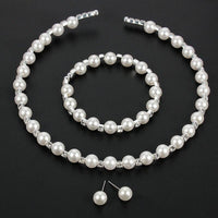 European Simulated Bridal Necklace Set - FashionBazzaar
