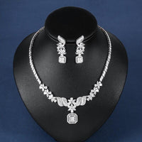 Cubic Zircon Bridal Necklace Set - FashionBazzaar