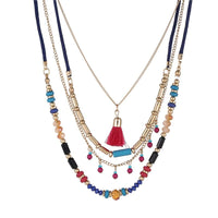 Bohemian Multi Color Layer Beaded Necklaces - FashionBazzaar