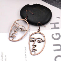 Dangle Face Earrings - FashionBazzaar