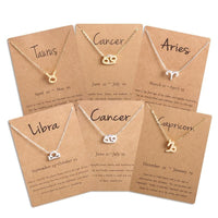 Horoscope Zodiac Sign Gold Chain Necklace - FashionBazzaar