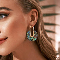 Shell Geometric Dangle Drop Earrings Set - FashionBazzaar