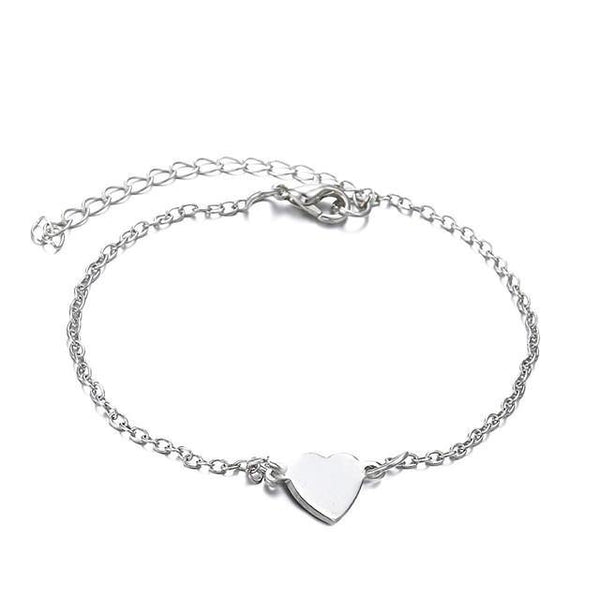 Simple Alloy Heart Anklet - FashionBazzaar