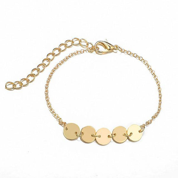 Simple Classic Vintage Alloy anklet - FashionBazzaar