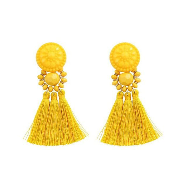 Tassel Fringe Earrings - FashionBazzaar