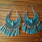 Ethnic Ancient Tassel Round Earrings - FashionBazzaar