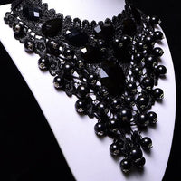 Onyx Crystal Choker Necklace - FashionBazzaar