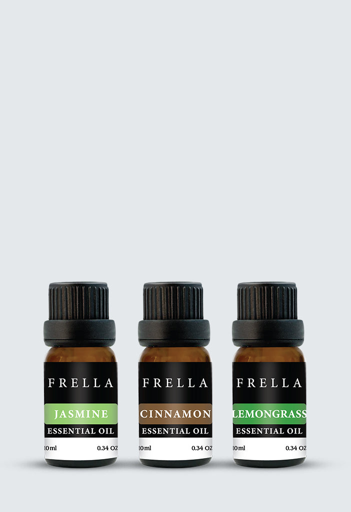 Frella Essential Oil Kit - Cinnamon, Peppermint & Lemongrass
