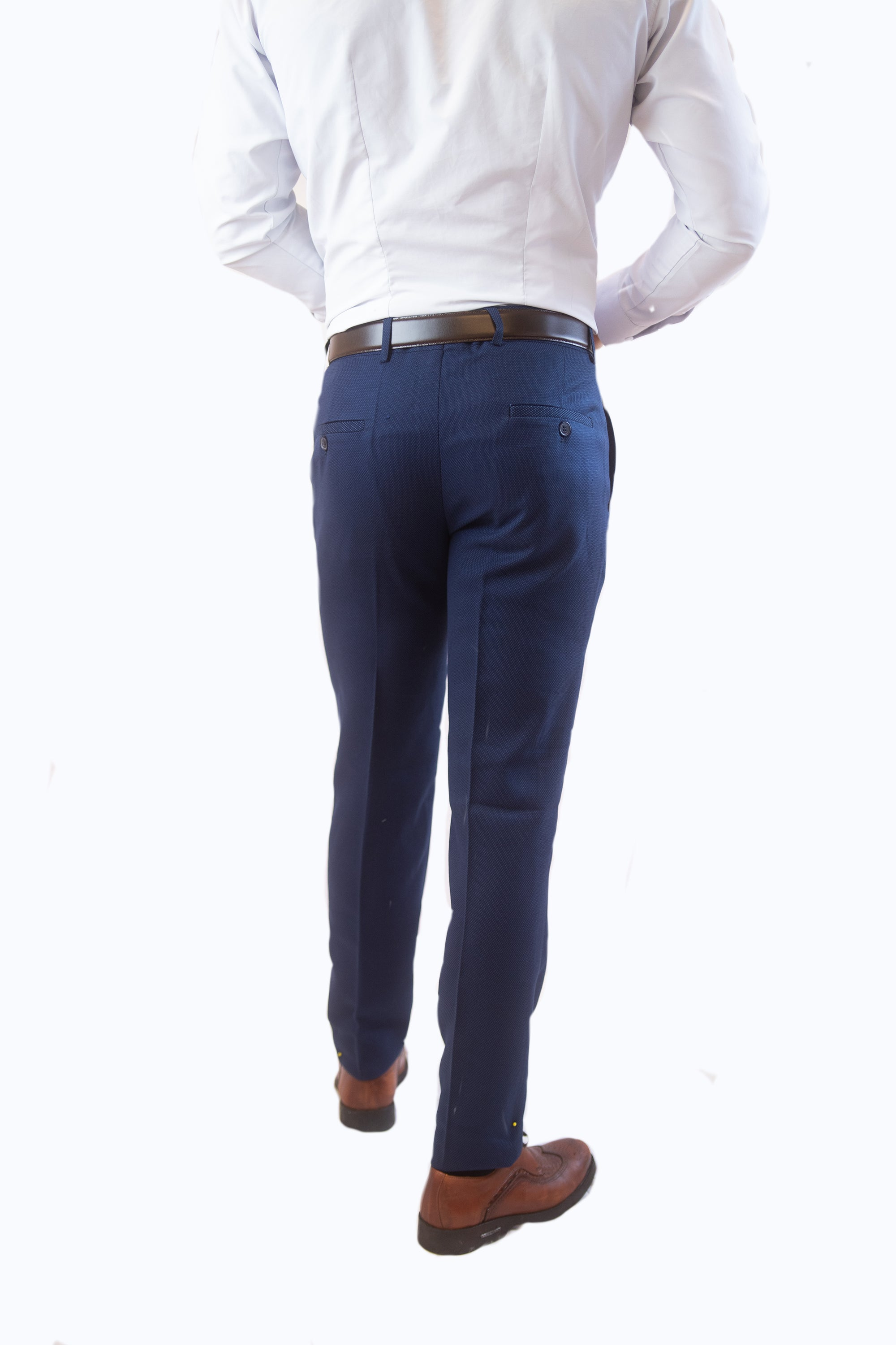 Blue Slim Pants