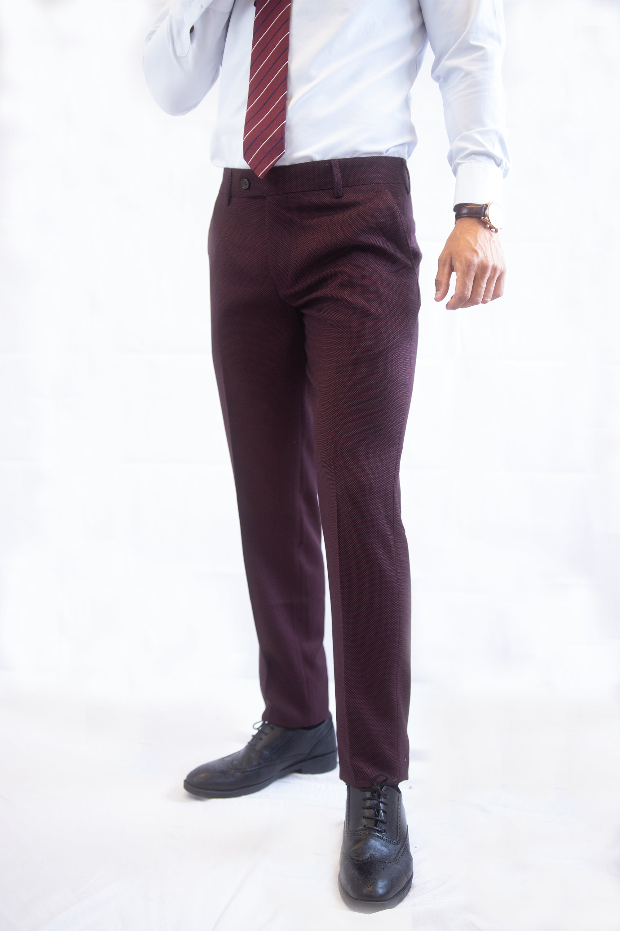 Burgundy Slim Pants