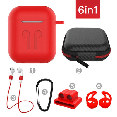AirPod Silicone Protective Cover 6-Piece Set