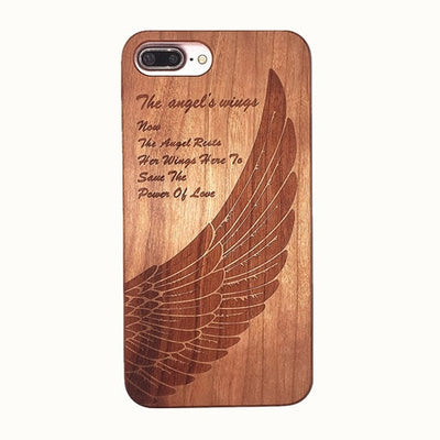 Laser Engraved Real Wood Case For iPhone | Eco-Friendly