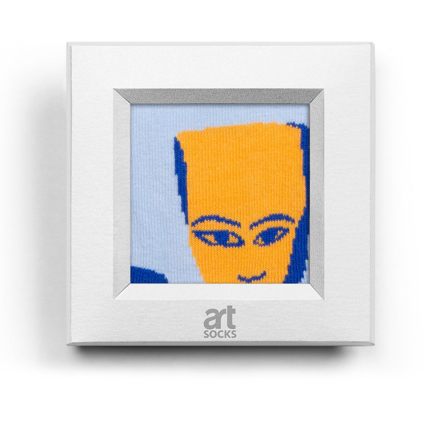 frame socks blue yellow masks colorful socks artsocks frame