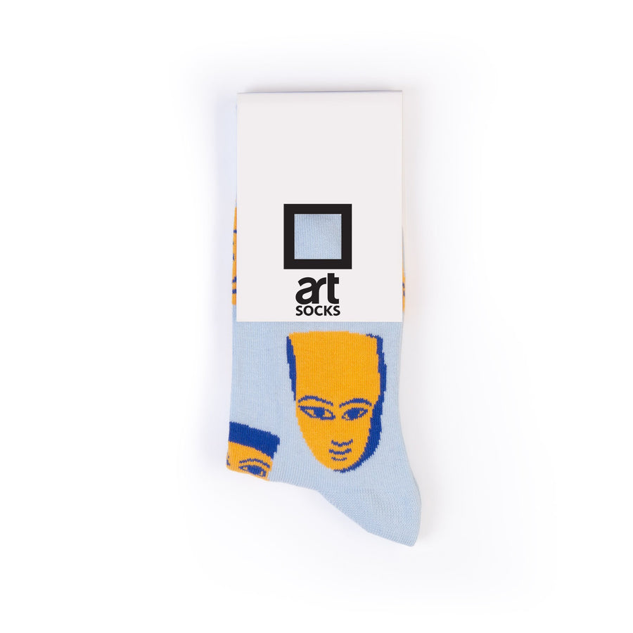 socks blue yellow masks colorful socks artsocks label