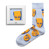 frame socks blue yellow masks colorful socks artsocks