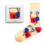 frame socks yellow house with tree colorful socks artsocks