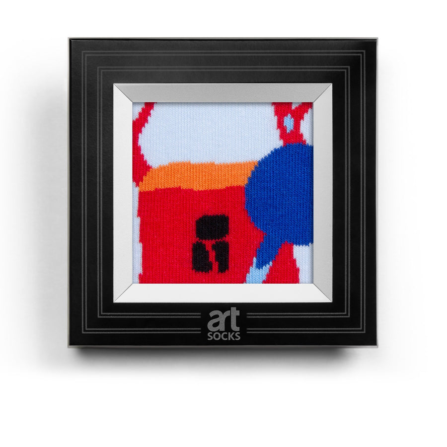 frame socks blue house with tree colorful socks artsocks frame