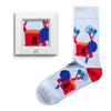 frame socks blue house with tree colorful socks artsocks