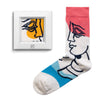 frame socks red blue yellow people colorful socks artsocks