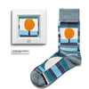 The Messenger of Autumn by Paul Klee colorful art socks artsocks