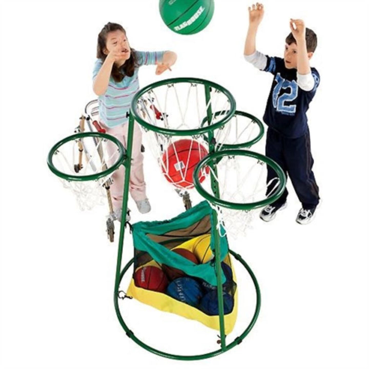 Adjustable Multi-Ring Basketball Stand
