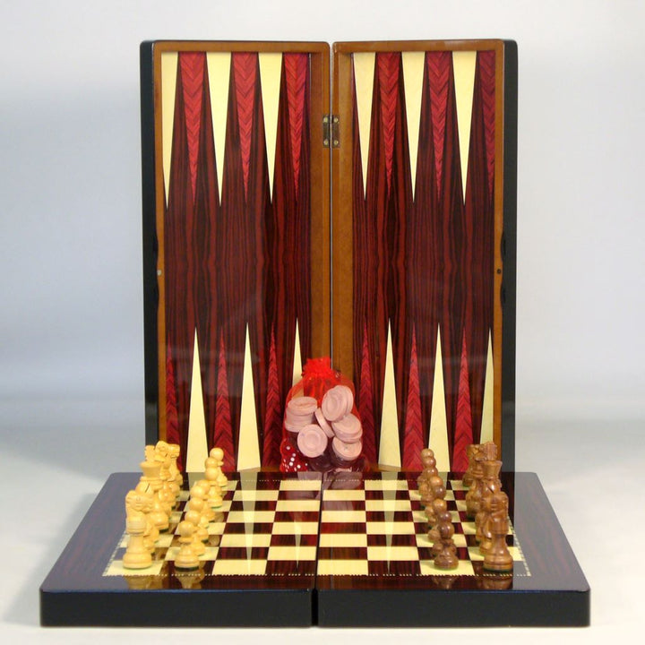 Backgammon, Chess & Checkers Combo