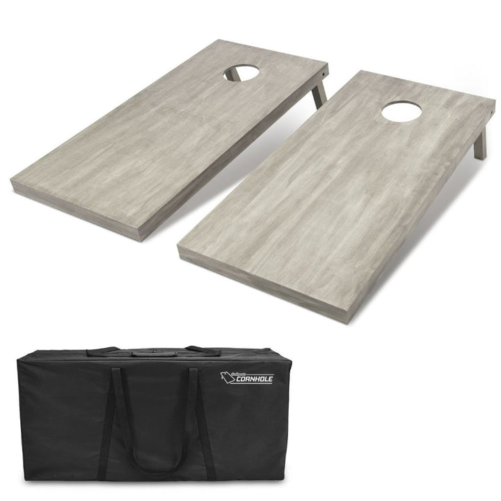 Solid Wood Cornhole Set - GRAY (Regulation Size)