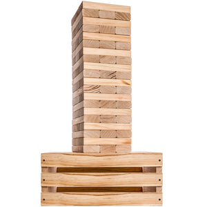 Giant Tower Game with Wooden Crate