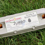 Creswick Farm's Jumbo Egg Carton Lying In Grass