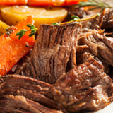 "There's nothing quite like a home-cooked meal, and nothing says ""home-cooked meal"" quite like a chuck roast. Nothing beats the flavor of a slow cooked chuck roast braised at low heat for many hours! Cut from the shoulder region, it's perfect for a slow cooker with potatoes, carrots and other veggies you love in your pot roast!"