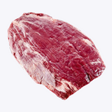 Flank Steak comes from the flank and is a long cut of meat. With delicious flavor, this meat is often used for Fajitas or Stir Fry.  It is great for marinating and can be grilled, broiled, pan fried or slow cooked and it's advised to cut it across the grain for increased tenderness.