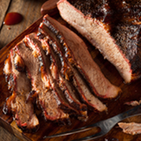 Slowly roasted over pecan for 14 full hours, our Brisket is fork-tender and full of rich flavor. Fully cooked, pre-sliced, heat and serve. 1 pound pkg.