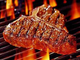 Creswick Farm's Small T-Bone Steak Cooking On A Grill