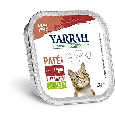 Pate Boeuf Chicoree Pour Chat 100 G Yarrah