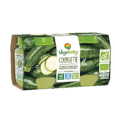 Vegebaby Pot Courgette 2 X120 G