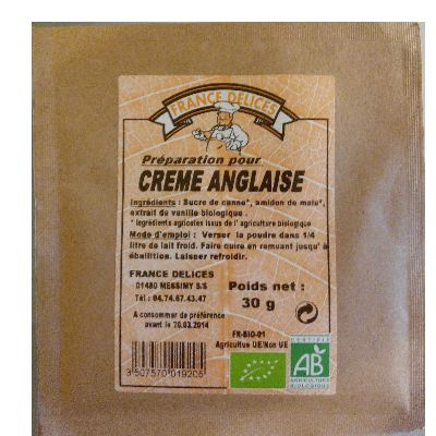 Creme Anglaise 30g France Delices