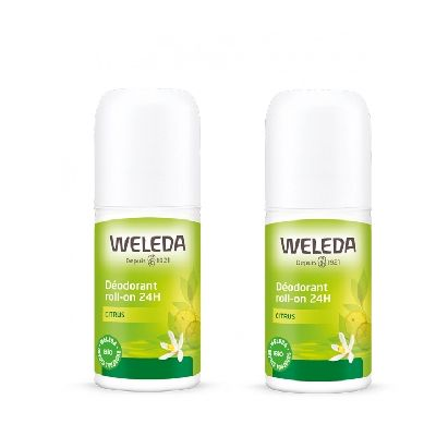 Duo Deodorant Roll On 24 H Citrus  Weleda