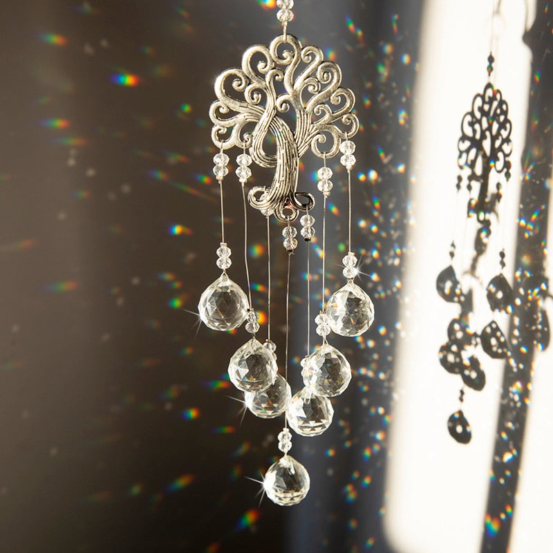 Hanging Crystal Suncatcher with Crystal Ball Prism