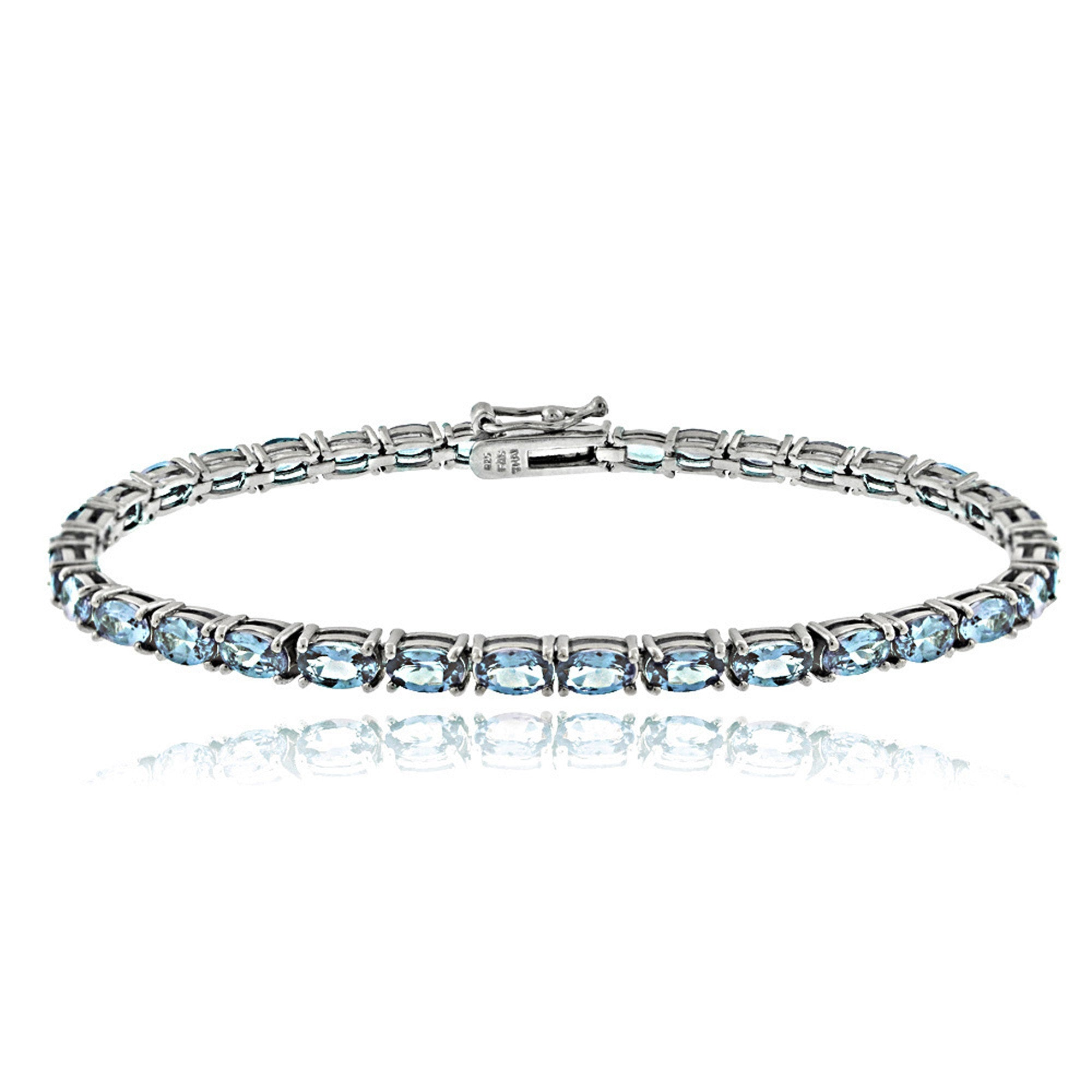 in brass silver gem bracelet gold with row plated sterling stone two multi natural diamond ct itm flash