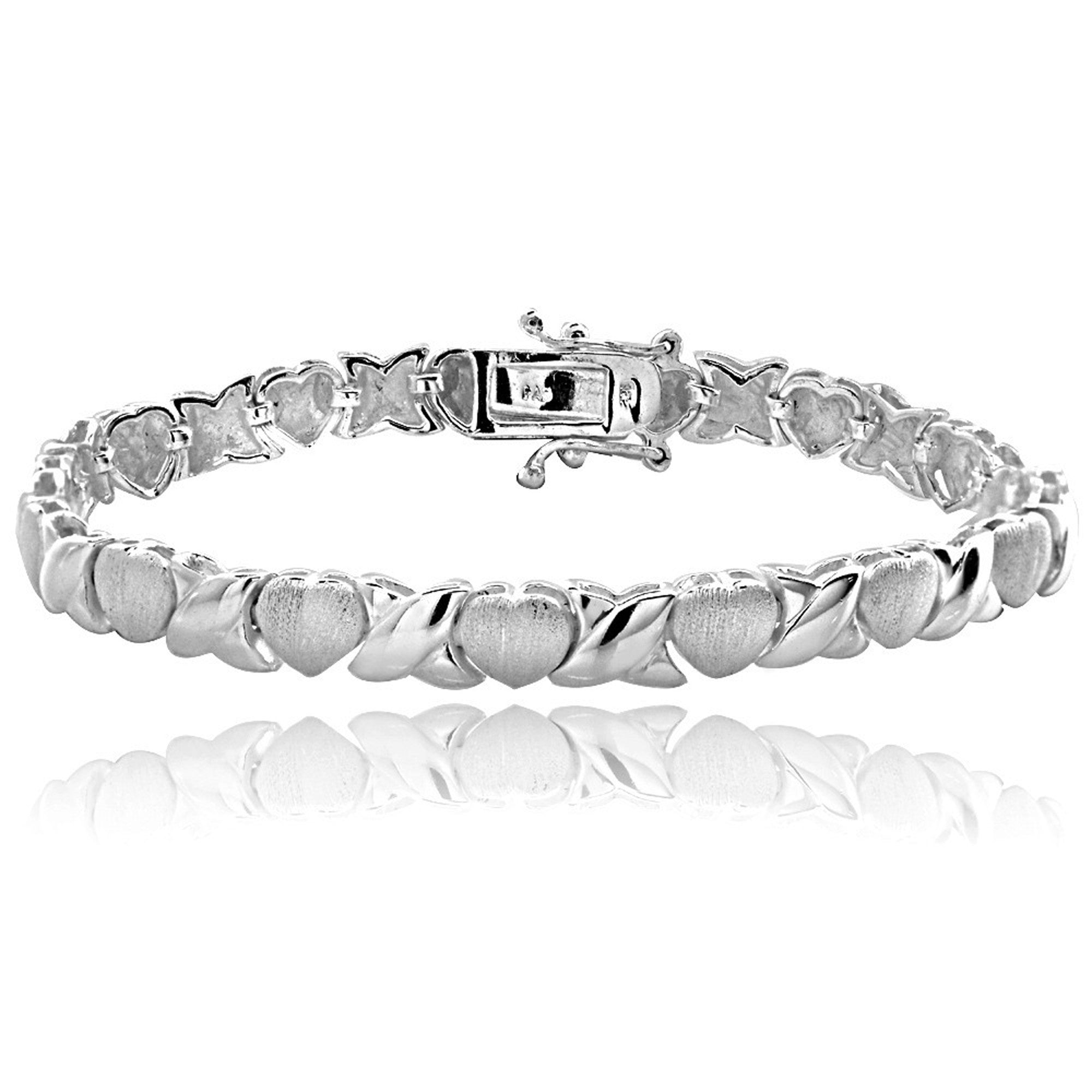 Sterling Silver Hugs & Kisses Bracelet