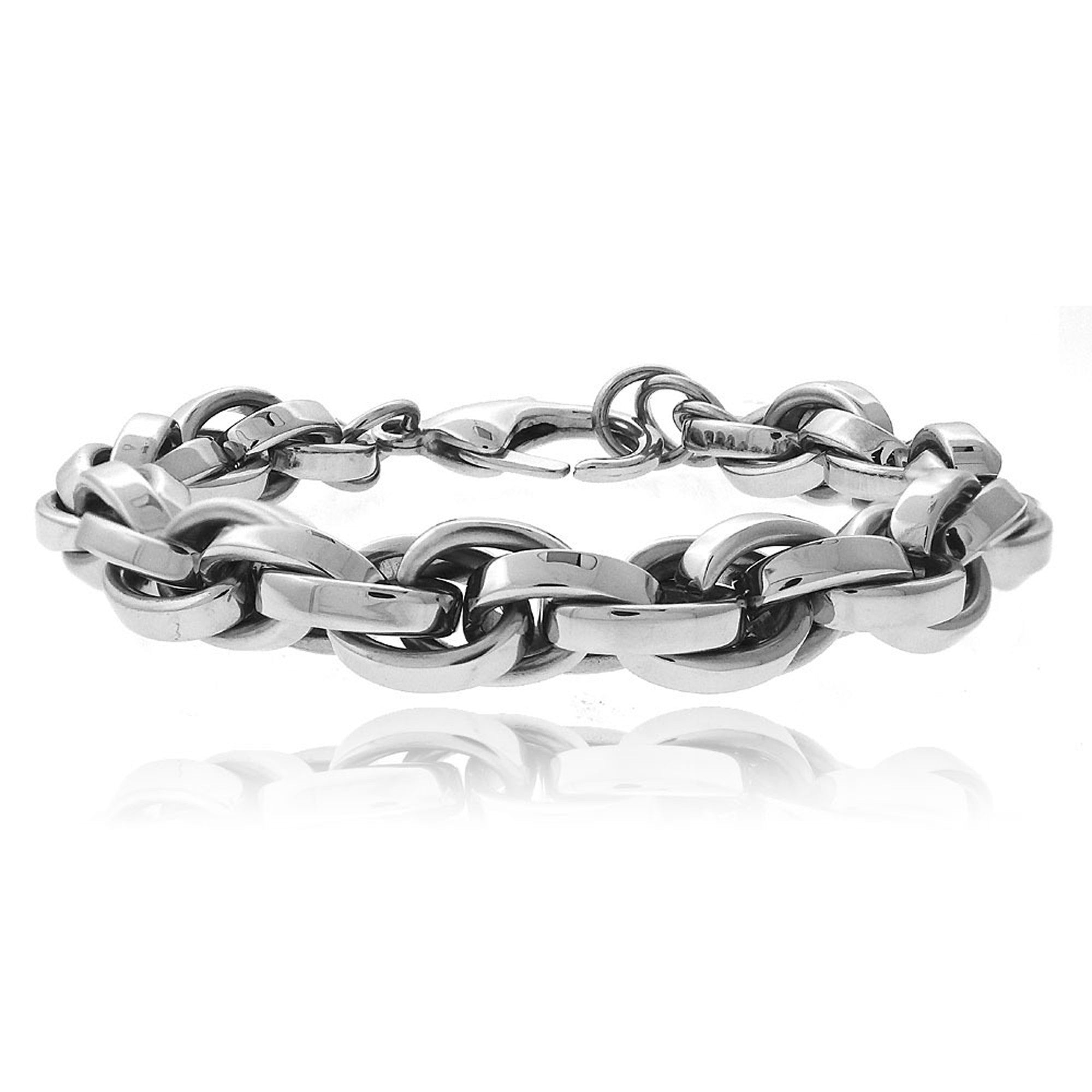 Stainless Steel Silver Cable Chain Bracelet