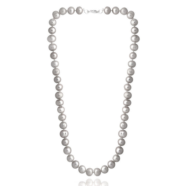 Coloured Freshwater Pearl Necklace - Light Grey