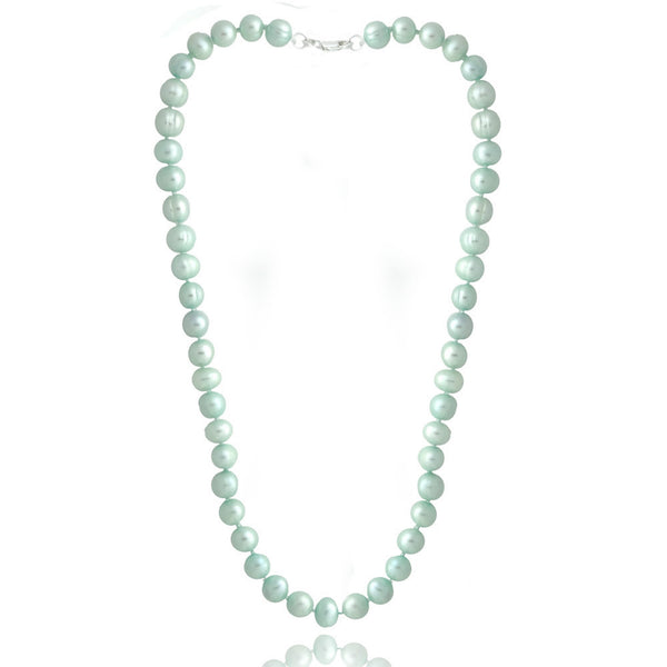 Coloured Freshwater Pearl Necklace - Light Blue