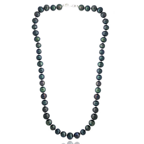 Coloured Freshwater Pearl Necklace - Peacock