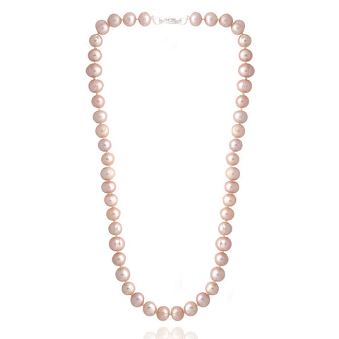 Coloured Freshwater Pearl Necklace - Pink